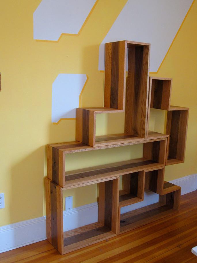 Wooden Tetris Shelves jonahgoldsteincom