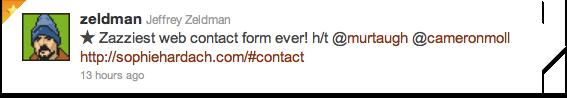 Zeldman's tweet